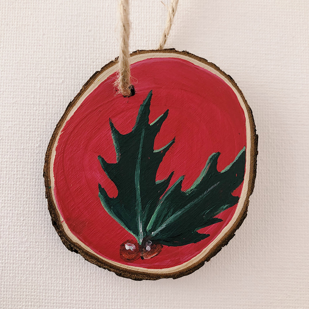 Mini Wooden Painting - Holly