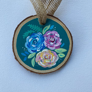 Mini Wooden Painting - Flower Bouquet