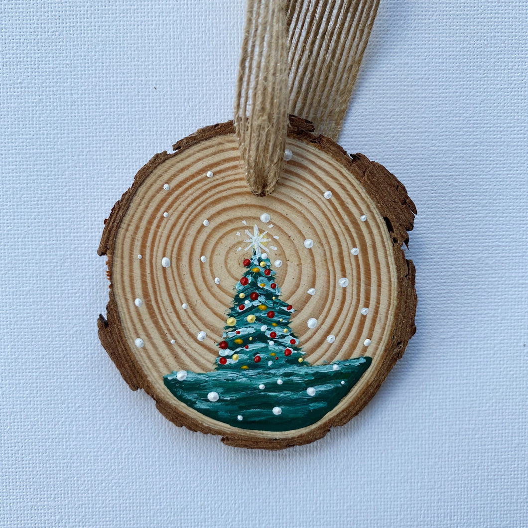 Mini Wooden Painting - Bobby the Christmas Tree