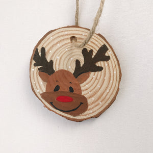 Mini Wooden Painting - Rudolph