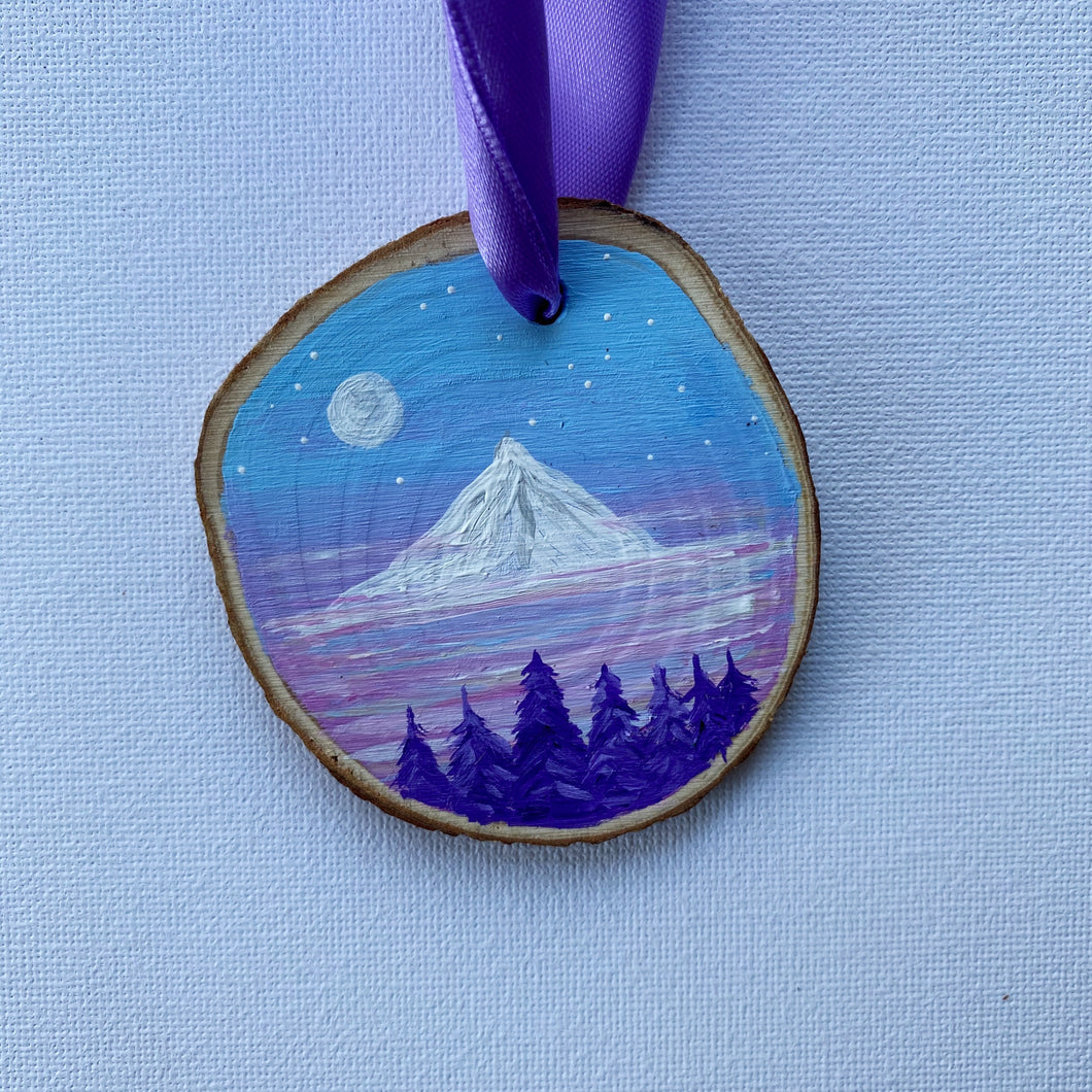 Mini Wooden Painting - Mount Blake
