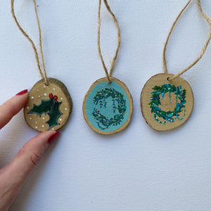 Mini Wooden Painting - Three Mini Xmas Trio