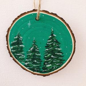 Mini Wooden Painting - Let it snow!