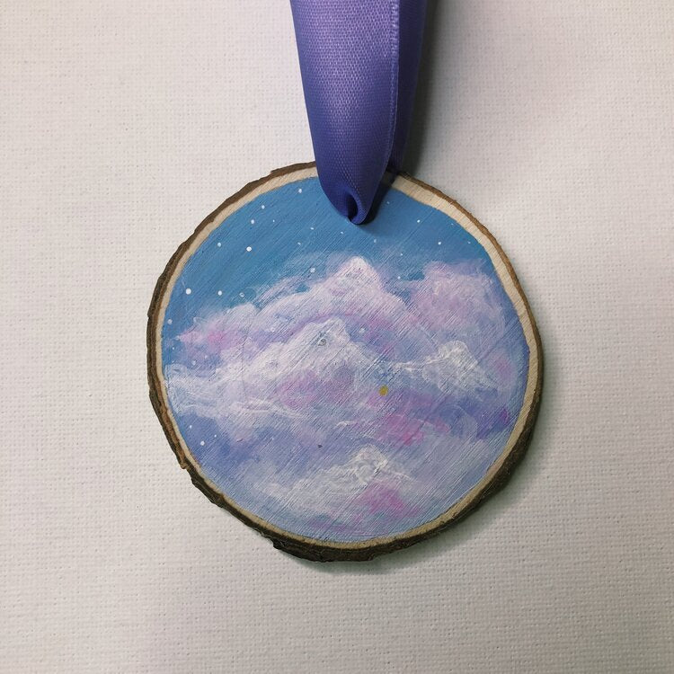 Mini Wooden Painting  - On Cloud 9