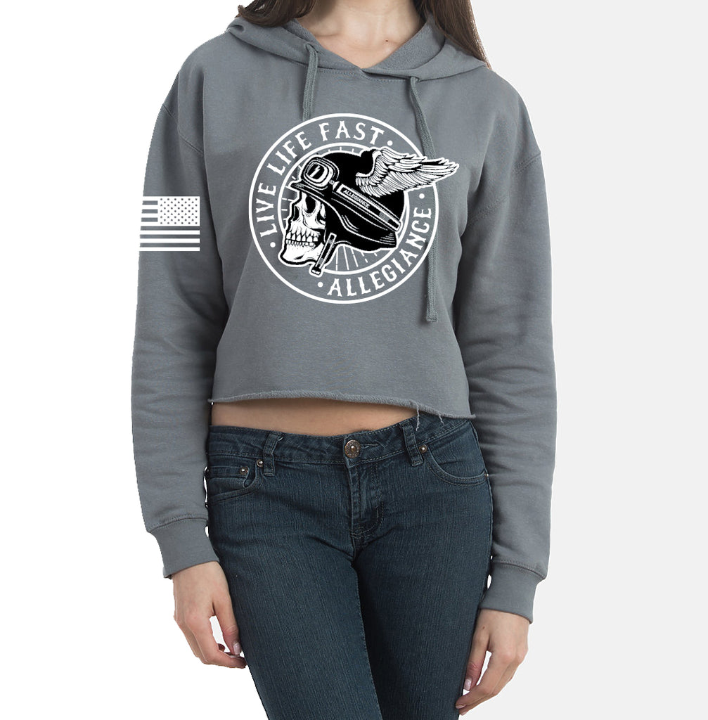 Alle. Winged Cropped Hoodie