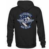 Allegiance Alle. Back The Blue Badge Back Hit Hoodie
