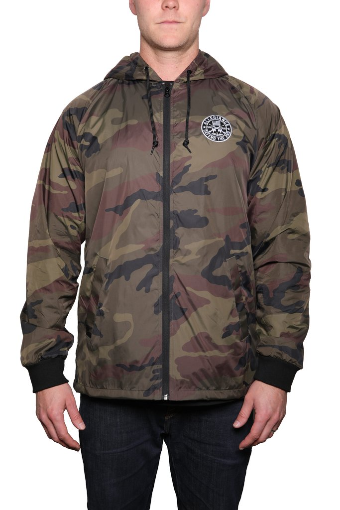 Defend the 2nd Camo Windbreaker