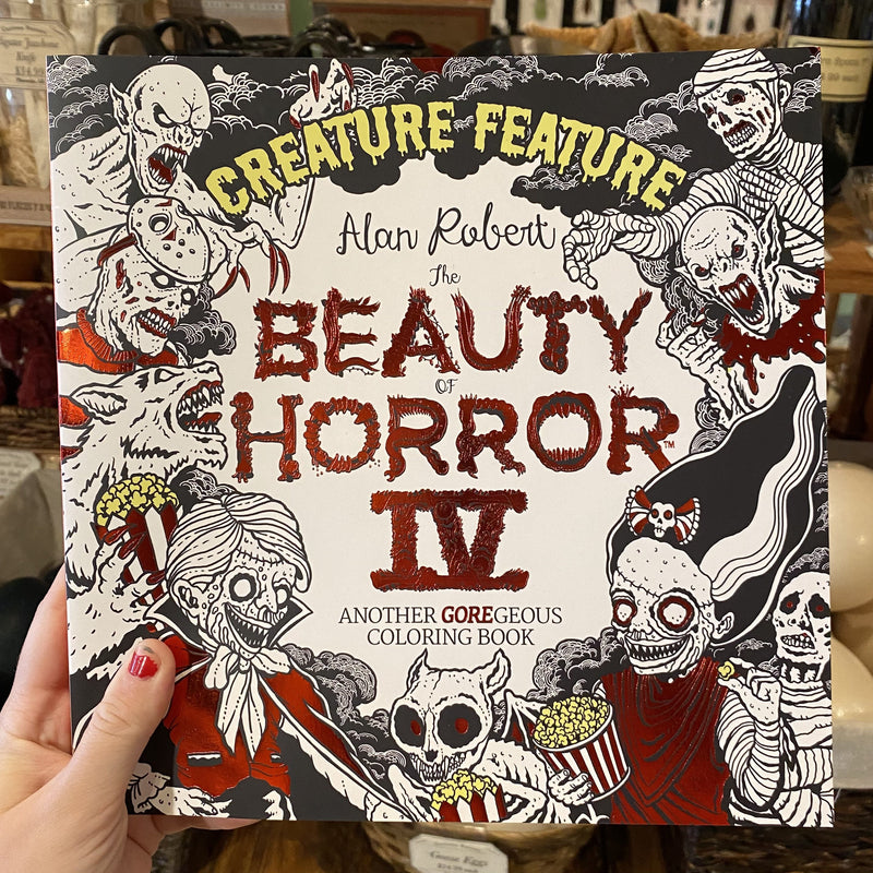 The The Beauty of Horror IV Coloring Book by Alan Robert - Curious Nature