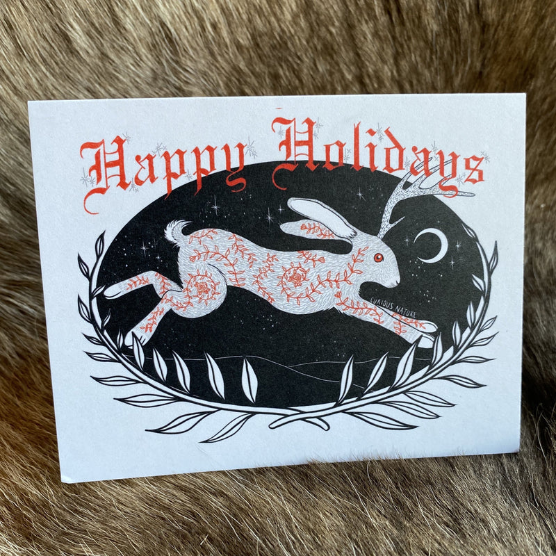 Happy Holidays Greeting Card - Curious Nature