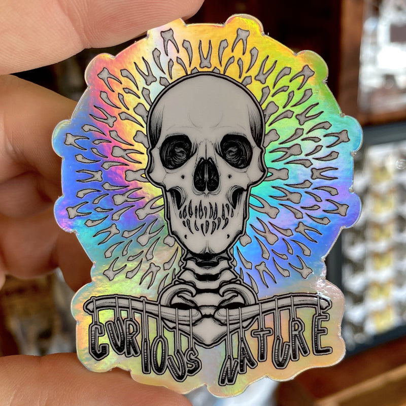 Holographic Skeleton Sticker - Curious Nature