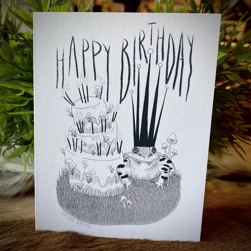 Happy Birthday Frog Greeting Card - Curious Nature