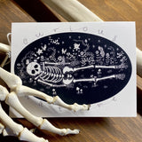 Skeleton Greeting Card - Curious Nature