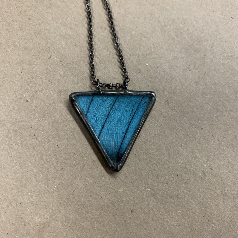Morpho Achilles Triangle Necklace - Curious Nature