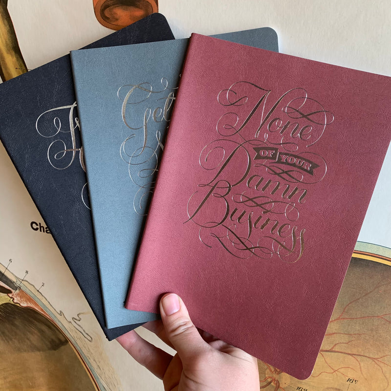 None of Your Damn Business Notebook Set
