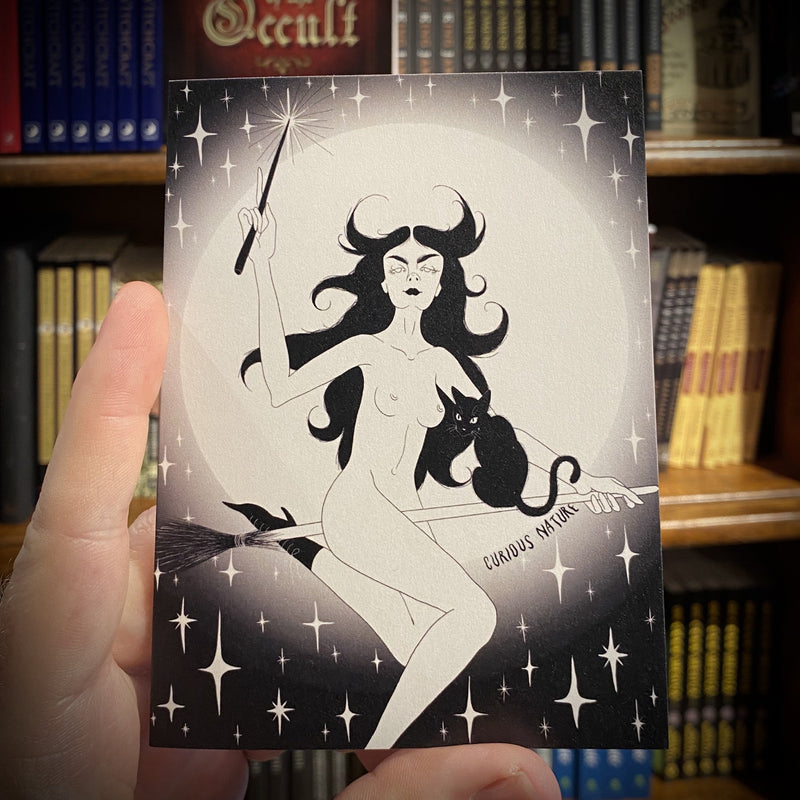 Witch Greeting Card - Curious Nature