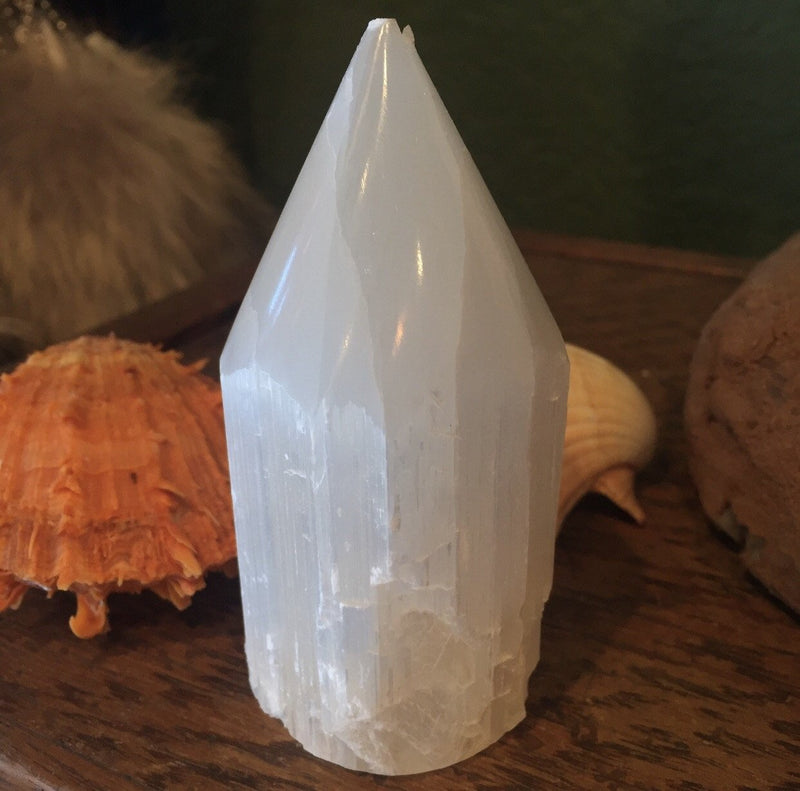 Small Selenite Point Tower - Curious Nature