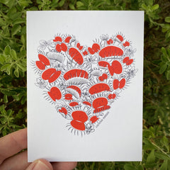 Venus Flytrap Heart Greeting Card