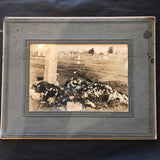 "Vintage Burial Funeral Cabinet Card 10"" x 8"""