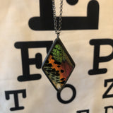 Sunset Moth Large Diamond Necklace