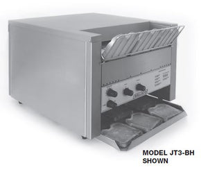 Bagel Bread Conveyor Toaster 3 inch clearance JT3-BH - Tamirson