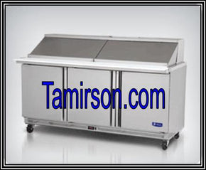 3 Three Doors Mega Top Sandwich Prep Table 72 Inch 30 pans $1895 - Tamirson