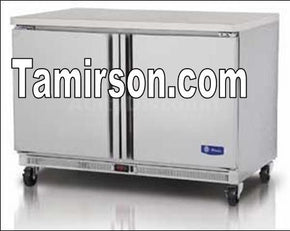 2 two doors undercounter Under Counter Cooler Refrigerator 48 in - Tamirson