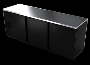 Back Bar Cooler 3 Solid Doors 94 inch - Tamirson