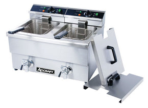Commercial Double Fryer Electric counter top with faucet - Tamirson