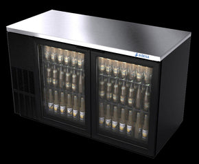 Back Bar Cooler 2 glass doors 58 inch - Tamirson