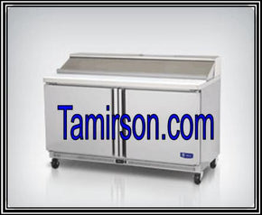 2 Two Doors Sandwich Prep Table 60 Inch 16 pans - Tamirson