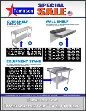 sale flayer 7 21 2012 shelf equipment stand - Tamirson