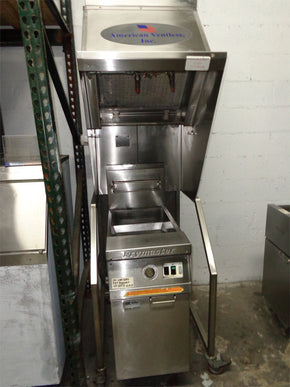 Ventlees Hood With Frymaster Electric Fryer Self Contained pre o - Tamirson