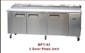 Pizza Prep Table BPT93 Bison $1995 93 inch long - Tamirson