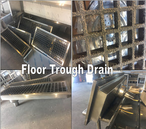 Floor Drain Trough Anti Splash 12x12 $395 Custom Stainless - Tamirson
