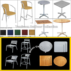Chairs Tables Bar Stools Out Door Outdoor Aluminum Sale Special - Tamirson