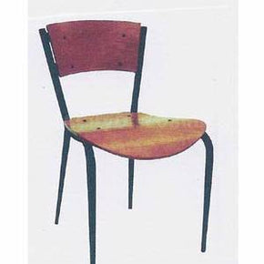 Chair Black Metal w Veneer Seat and back $19.95 - Tamirson