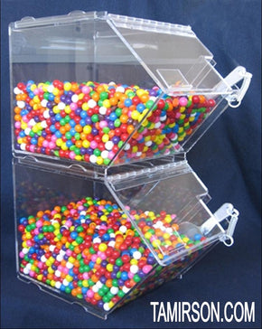 Ingredient Bin Bins Topping Dispencer Candy Dispensers STACKABLE - Tamirson