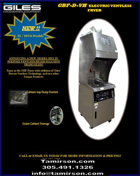 Ventless Fryer Electric 35 lb GBF35DVH $10795 - Tamirson