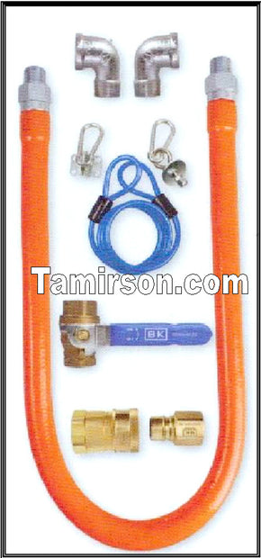 QUICK DISCONNECT Gas Connector Kit 24 inch long - Tamirson