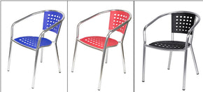 Mykonos Stacking Arm Chair Aluminum in 3 colors golan - Tamirson