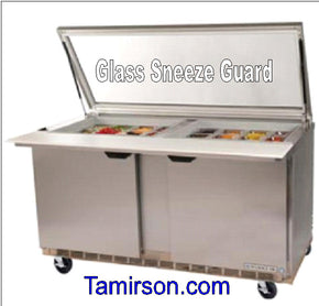 Mega Top Refrigerated Sandwich prep table see-thru lids 60 inch - Tamirson