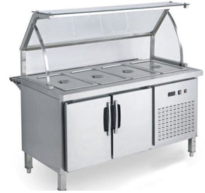 Sandwich Prep table Falafel Shawarma Shish Kabob Salad Bar Refrigerator with Sneeze Guard sg4218 $2800 - Tamirson