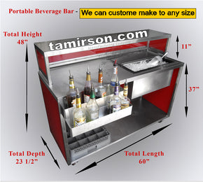 Portable Beverage Bar 60 inch long $2250 - Tamirson