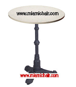 Quartz Table Top 24 round $135 Bistro Vintage Table Base $75 - Tamirson