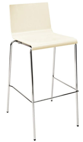 KUADRA-B – IVORY Bar Stool stackable $175 - Tamirson