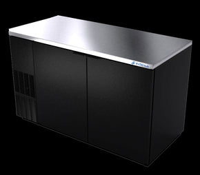 Back Bar Cooler 2 Solid Doors 58 inch - Tamirson