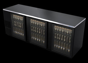 Back Bar Cooler 3 glass doors 95 inch - Tamirson