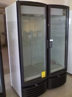 2 Glass Door Merchandiser Double Door Upright Cooler 37 cubic ft - Tamirson