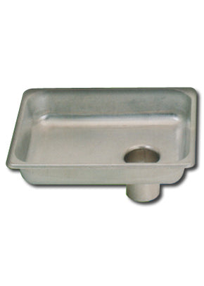 "10"" X 12"" Stainless Steel  Feed Pan - Tamirson"