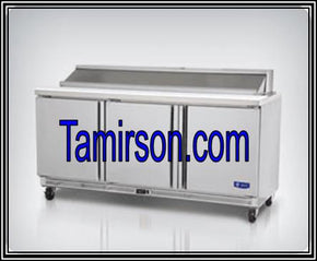 3 Three Doors Sandwich Prep Table 72 Inch 18 pans - Tamirson